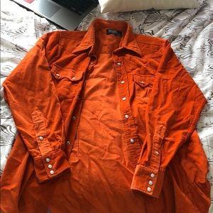 Ralph Lauren oversized corduroy button up shirt